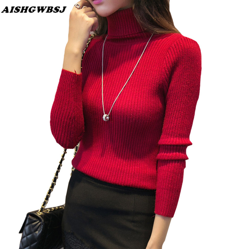 2016 women sweaters solid pullovers hot sweater women winter turtleneck sweater warm slim. Black Bedroom Furniture Sets. Home Design Ideas