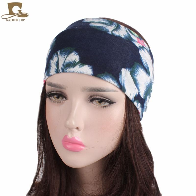 New women Soft Wide Headband Boho bohemian Head Wrap yoga sport hair band in Women 39 s Hair Accessories from Apparel Accessories