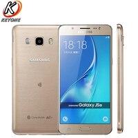 Оригинальный samsung 2016 GALAXY J5 J5108 мобильный телефон 5,2 2 Гб Оперативная память 16 Гб Встроенная память Snapdragon 410 четырехъядерный Android Dual SIM сотовый
