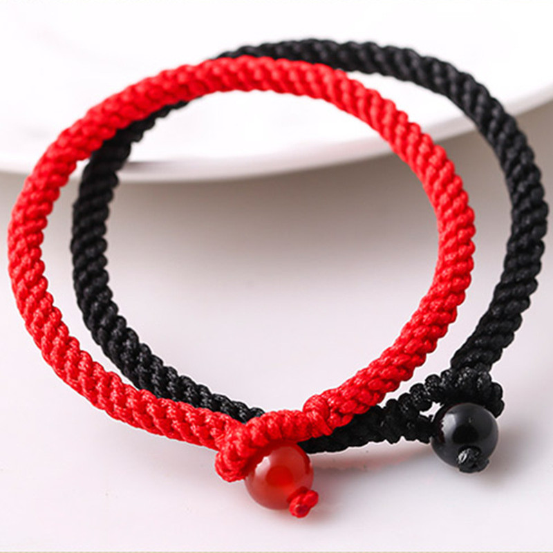 Sennier Lover's Red Rope Lucky Bracelets Women Men Stone Beads Charm Bracelet Corn Knotted Jewelry Accessorie Gift Drop Shipping