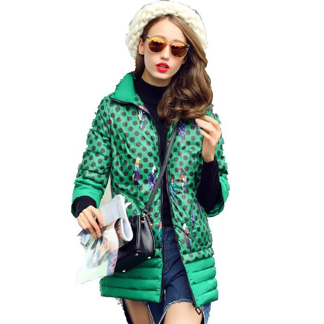 2 Colors Fashion Winter Jacket Women's Down Coat Winter 2017 New Ladies Long Jackets Three Quarter Sleeve Female Clothes Y353