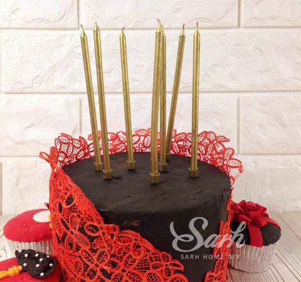 20 unids/lote oro brillante creativo romantic party fiesta de cumpleaños torta v