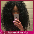 DHL Fast Shipping Heat Resistant Fiber Afro Kinky Curly Wig Curly Synthetic Lace Front Wig Full Wigs For Black Women In Stock