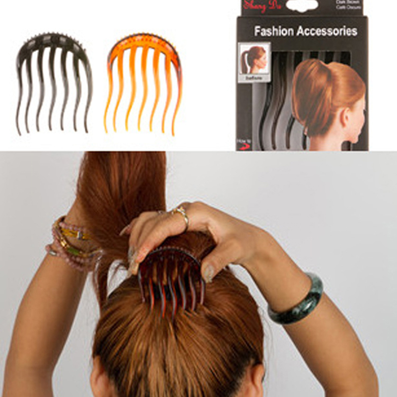 Female Horsetail Combs Volume Inserts Hair Clip Bouffant Ponytail Maker Braid Tool Hair Comb Headwear Hair Accessories For Women
