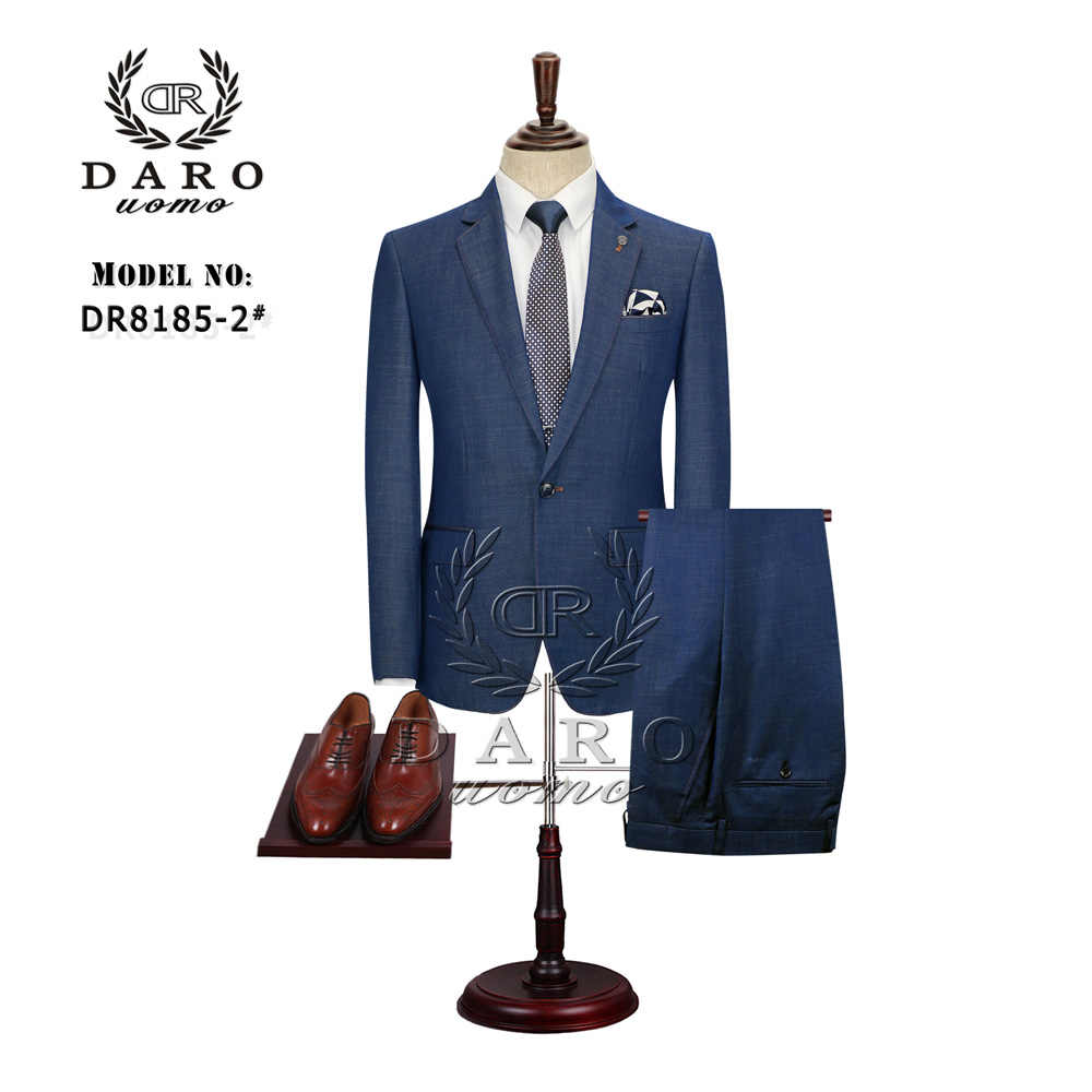 DARO 2019 Men's Suit Slim Fit Business Formal Wear Jacket and Pants Casual Clothes DR8185