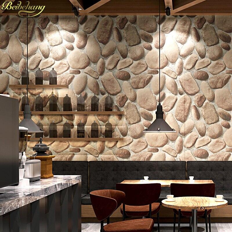 Купить с кэшбэком beibehang papel de parede 3D Texture Adhesive wallpaper brick wall Living Room Waterproof Vinyl Sticker Household Wall Paper
