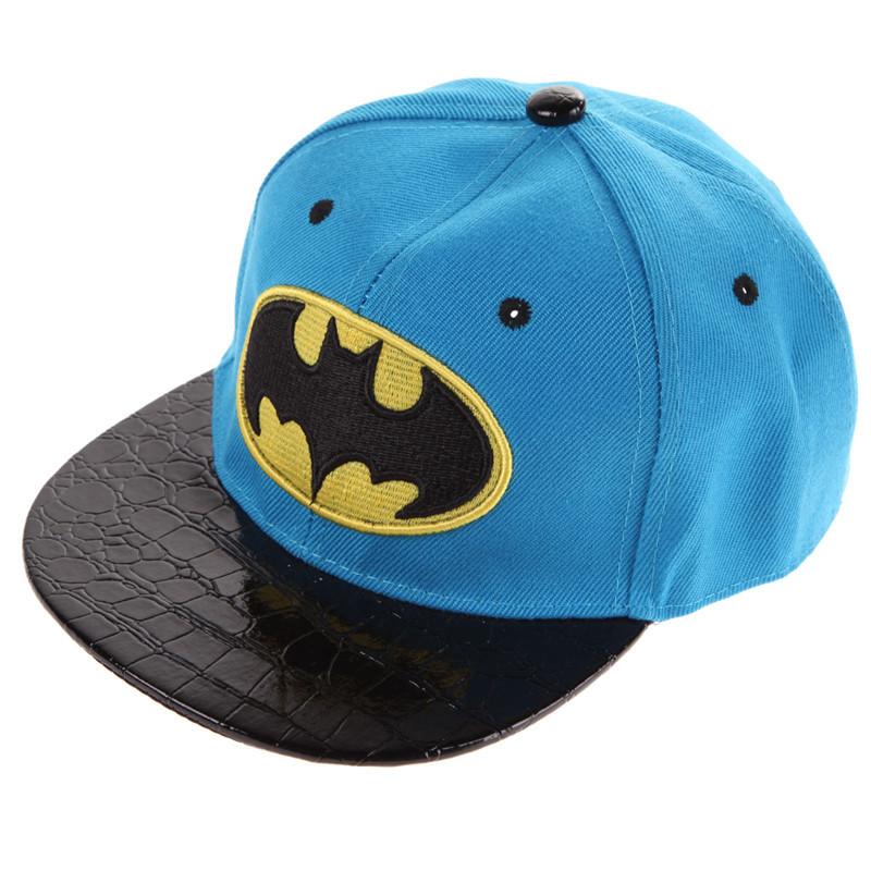 Batman Kid's Snapback Cap - Sky Blue