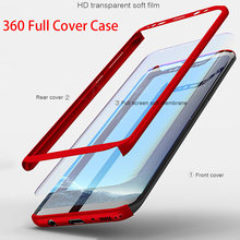 360 Degree Phone Cases for Samsung S7 Edge S8 Plus Hard Armor Case with Soft Tempered Glass for Samsung Galaxy Note 8 S9 Plus(China)