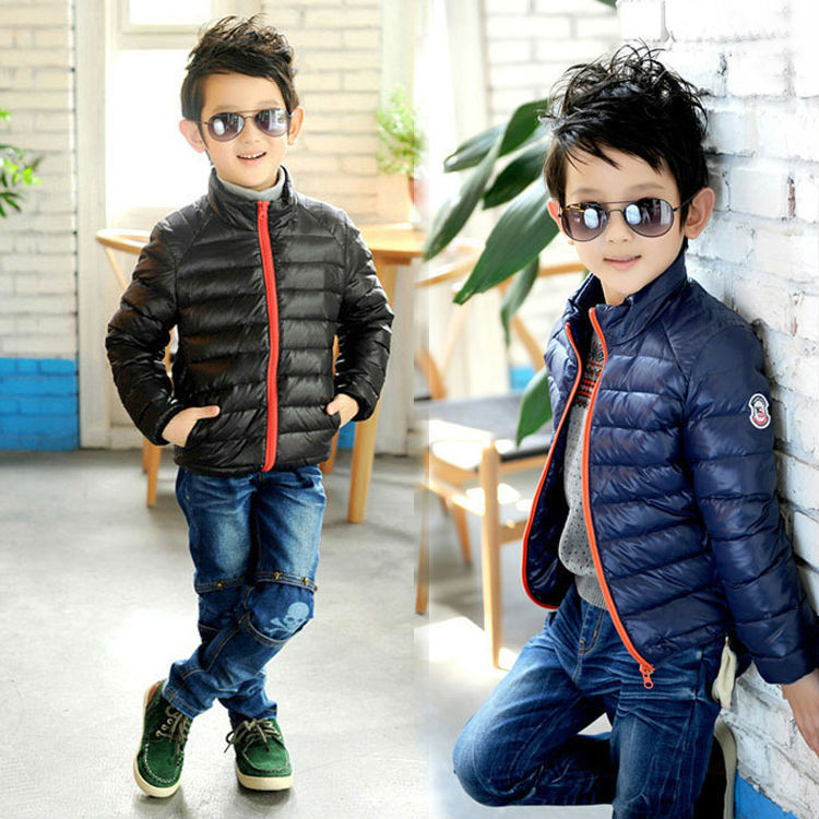 Free shipping winter boy Children's clothing winter/autumn outfit jacket of the girls The boy on the new coat collar winter