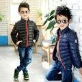 O envio gratuito de menino de inverno das Crianças roupas de inverno/outono jaqueta roupa das meninas Do menino sobre o novo gola do casaco