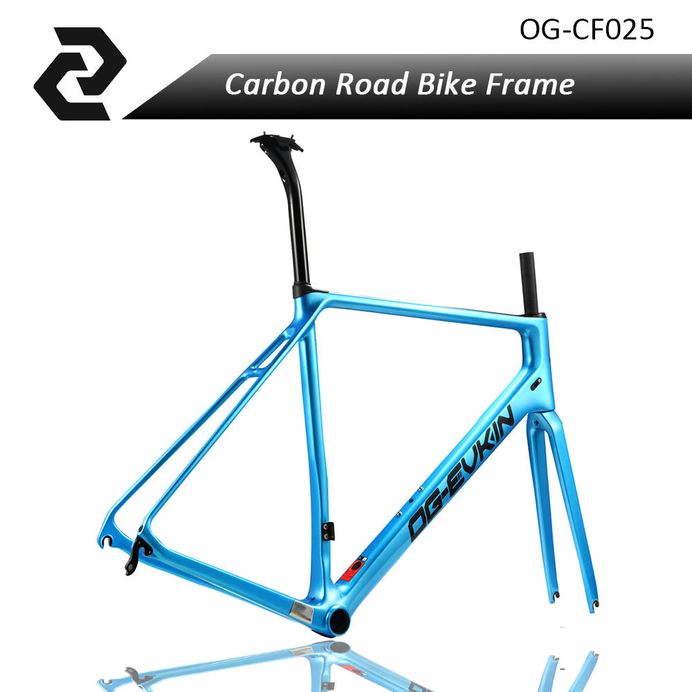 2018 Top T800 Full Carbon Road frame UD glossy road bike frames carbon Di2 Climbing Fork Seat Post Clamp BB86 Glossy XS S M L 2017 newest 1 1 disc road bike frame 4 sizes for disc carbon frame ultra light frame fork seat post headset bb adapter thru axel