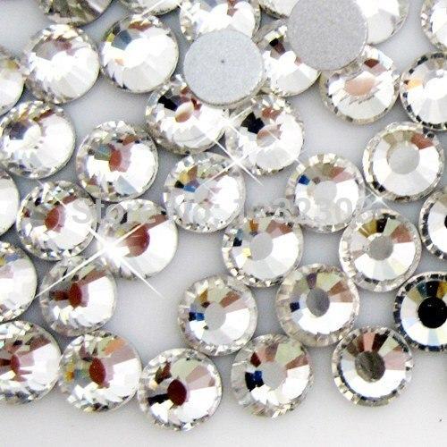 Qualidade superior Por Atacado Strass Pedrinhas Para Nail Art 400 gross/40 sacos/lote ss5 1.7-1.9mm Crystal Clear cor Plano Voltar Rodada