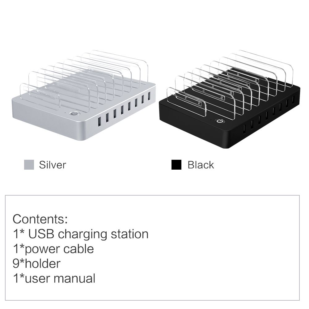 96W 8 Ports Multi-port USB Charger tablets USB Travel Wall Charger For iphone X 8 ipad samsung s8 quick dock Phone Charger Stand