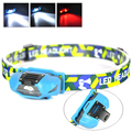 New 3 LED Headlamp 4 Modes Head Light Lamp Flashlight For Hiking Camping Night Fishing AA Headlamps