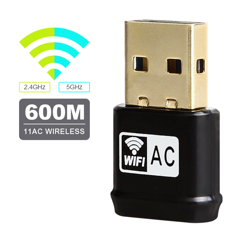 Wireless WiFi Adapter AC600Mbps USB WiFi Network Card RTL8811AU 2.4G 5G Dual Band 802.11ac/a/b/g/n Wi-Fi Adapter Drop Shipping