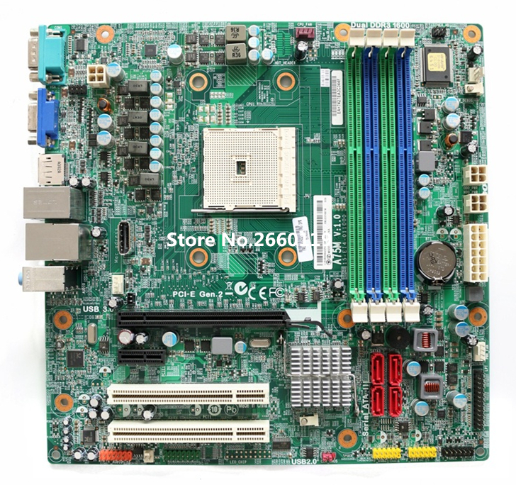 High quality desktop motherboard for D3F2-LM2 V:1.0 FM2 A75M Fully tested full compatible for intel and for a m d motherboard pc12800 1600mhz desktop memory ram ddr3 8gb