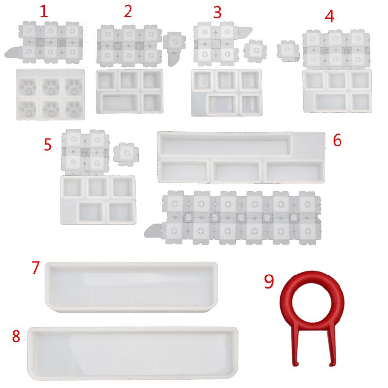Jewelry Molds Mechanical Gaming Keyboard Mold Computer PC Gamer Pet Paw Keycaps Silicone Molds