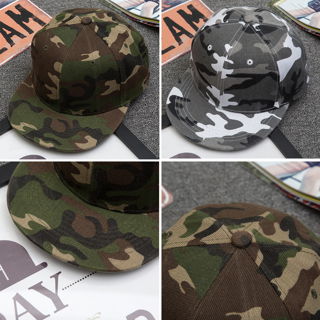 d418a4f980d Panel Cap Camo Snapback Hats For Men Women Cotton Camo Baseball Cap Outdoor  Army Camouflage Hat-in Baseball Caps from Apparel Accessories on  Aliexpress.com ...