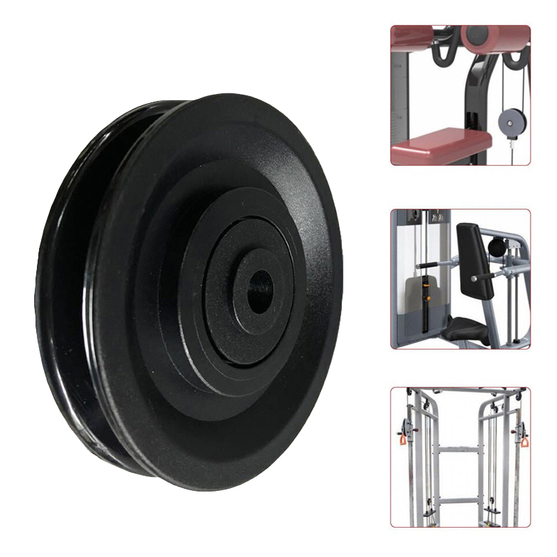 Black Bearing Pulley Wheel Cable Gym Fitness Equipment Parts 73//95//110//114mm Y