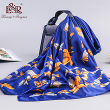 2019 luxury brand Silk Scarf Women Animal Print Beach Shawl and Wrap Foulard Femme Scarves Plus Size female hijab stole bandana