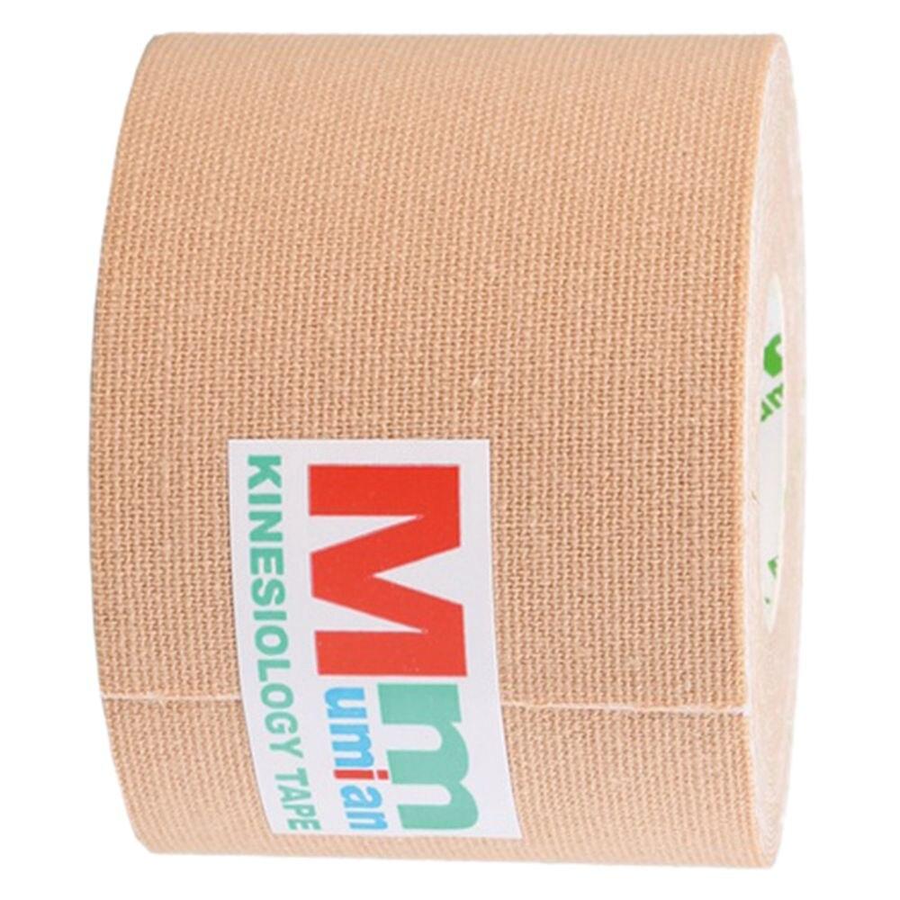 Горячие Mumia 5 см x 5 м внутримышечного эффект Tex ленты лента Спортивное кинезиологии Спорт лентой обвязки Футбол мышц Упражнение