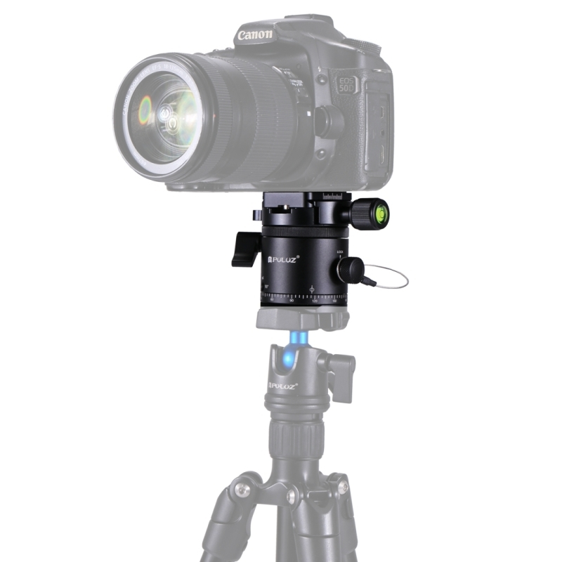PULUZ DSLR Caméra Trépied Rotule Quick Release Professionnel En Alliage D'aluminium Panoramique Indexation Rotator Rotule Trépied Tête