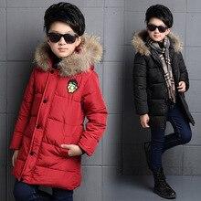 2016 Зима ребенок мальчиков растение зомби руки вилку хлопка-ватник детей длинные тип теплый и ветрозащитный одежда пальто
