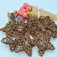 10PCS 6CM Rattan Star Sepak Takraw Christmas Lovely /Birthday&Home Wedding Party Decorations DIY Ornaments Rattan Ball Kids Toy