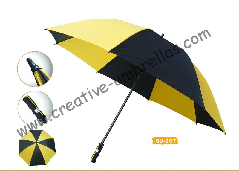 Free shipping by sea,pongee fabric.14mm fiberglass shaft and ribs,hand open golf umbrella,windproof,sponge handle for promotion