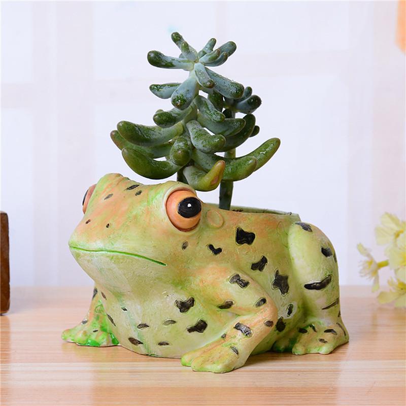 lindo de la rana animal maceta palets para pequeas flores decorativas macetas jardineras de resina olla