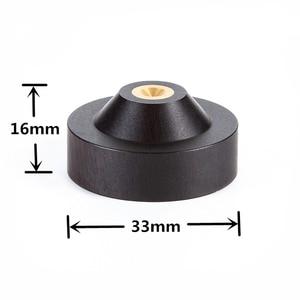 Image 1 - 33mm x 16mm haut parleur pic Isolation ébène bois support pieds socle HIFI isolateur en bois