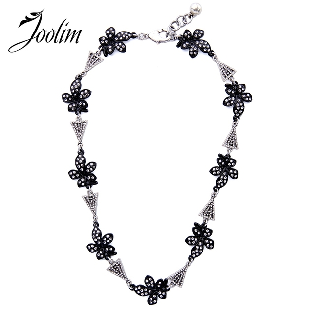 JOOLIM Jewelry Wholesale2017 Black Flower Necklace Wedding Necklace