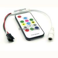 SP103E Mini Digital RGB LED Strip Controller with 14Key RF Wireless Remote 2048Pixels work with DC12V WS2811 Pixel LED Strip