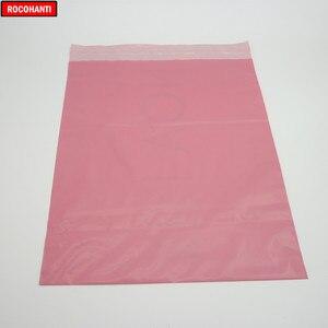 Image 3 - 100x logo Bedruckte Baby Rosa Farbe Schulranzen Post Taschen Poly Mailing Taschen für Kleidung Shop Verschiffen Einkaufen