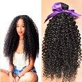 """Grau 7A malásia virgem cabelo Kinky Curly 6 """" - 30 """" barato cabelo humano Bundles 3 Bundles Curly Weave cabelo humano cabelo encaracolado malaio"""