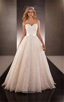 Vestido De Noiva 2015 Sweetheart Long A Line Lace Wedding Dresses Fashionable Modest Bridal Dress