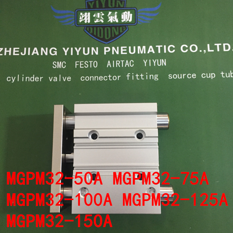 MGPM32-50A MGPM32-75A MGPM32-100A MGPM32-125A MGPM32-150A MGPL Pneumatic components Thin three Rod Guide Pneumatic Cylinder цена