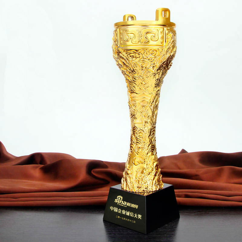 High Quality!New Resin Trophies High-Grade Crystal Cup Prize Trophy Model Creative Metal Crown Trophy,Free Shipping!