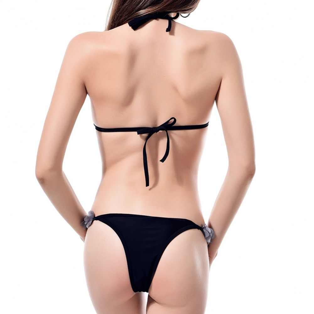 Новинка 2019, хит продаж, сексуальный комплект бикини для женщин, пуш-ап, новый кружевной Цветочный пляжный купальный костюм, бандаж, Холтер, купальник, бразильский купальник