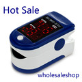 LED Fingertip Pulse Oximeter - Spo2 Monitor Finger Pulse Oximeter Pulsoximeter Saturimetro Ossimetro-Blue Color