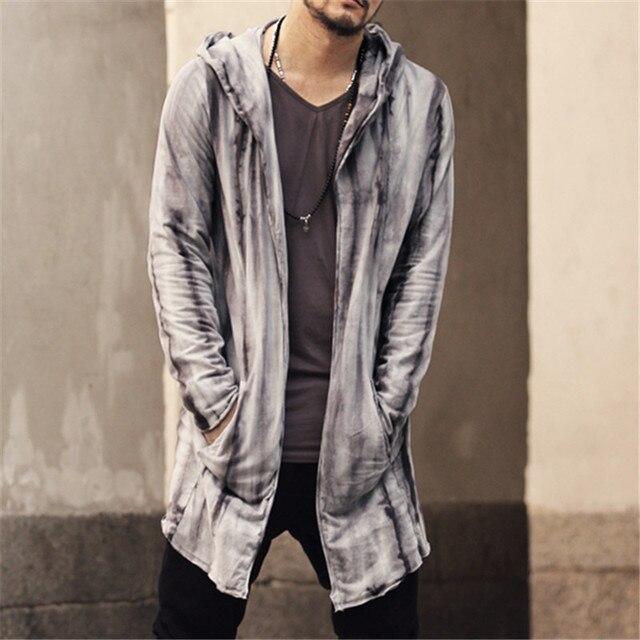 Новый модный бренд Повседневная Для мужчин S Осень Длинный свитер пальто вязать кардиган свитер с капюшоном Теплый Slim Fit Для мужчин толстые Куртка-кардиган пальто