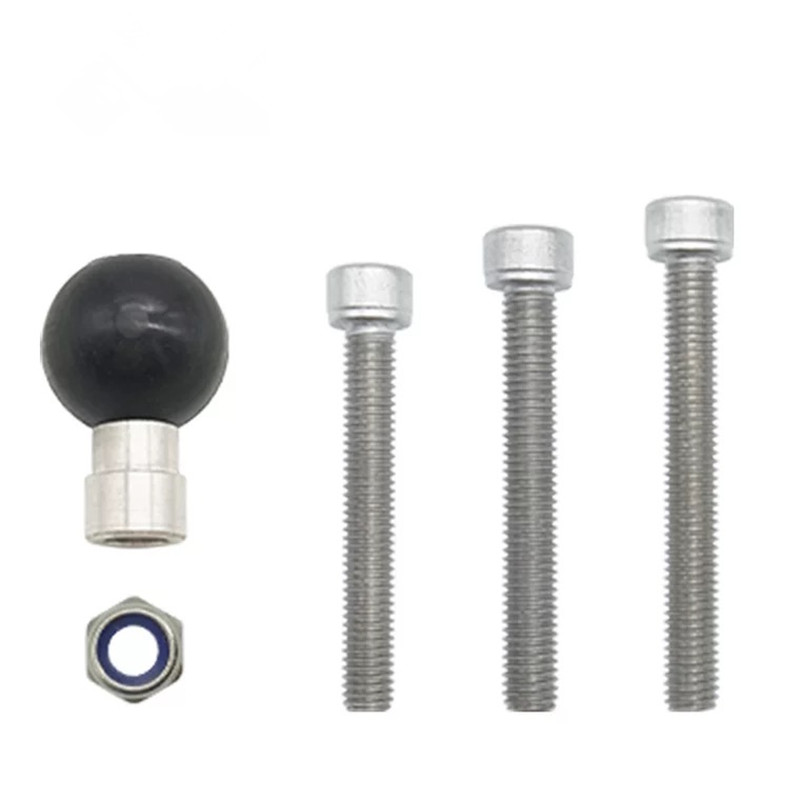 Motorcycle Handlebar Clamp Base 1 Inch 25mm Ball With M8 Screws For Ram Mount Gopro Action Cameras Cell Phone Smartphone