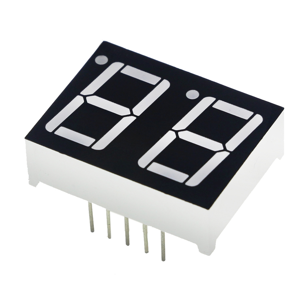 "0.56inch 2bit Common Cathode Digital Tube Red LED Digit Display 7 Segment 0.5inch 0.5 0.56 Inch 0.56"" 0.56in. Two 2 bit"