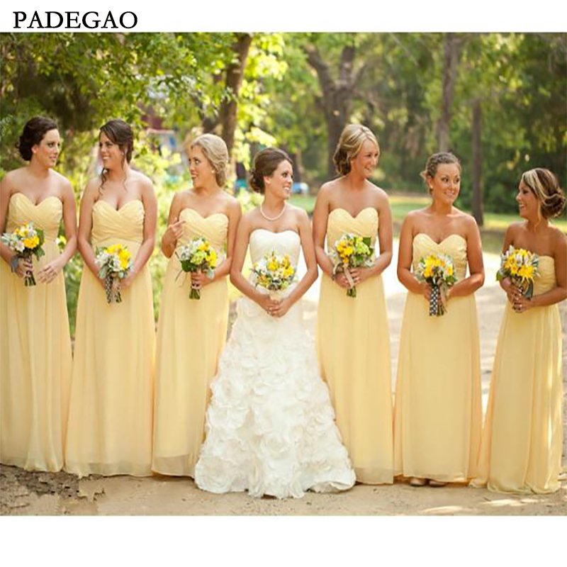 Simple A-Line Long   Bridesmaids     Dresses   Sleeveless Customized Spring Honor Of Maid Junior   Bridesmaids   Prom Custom Made