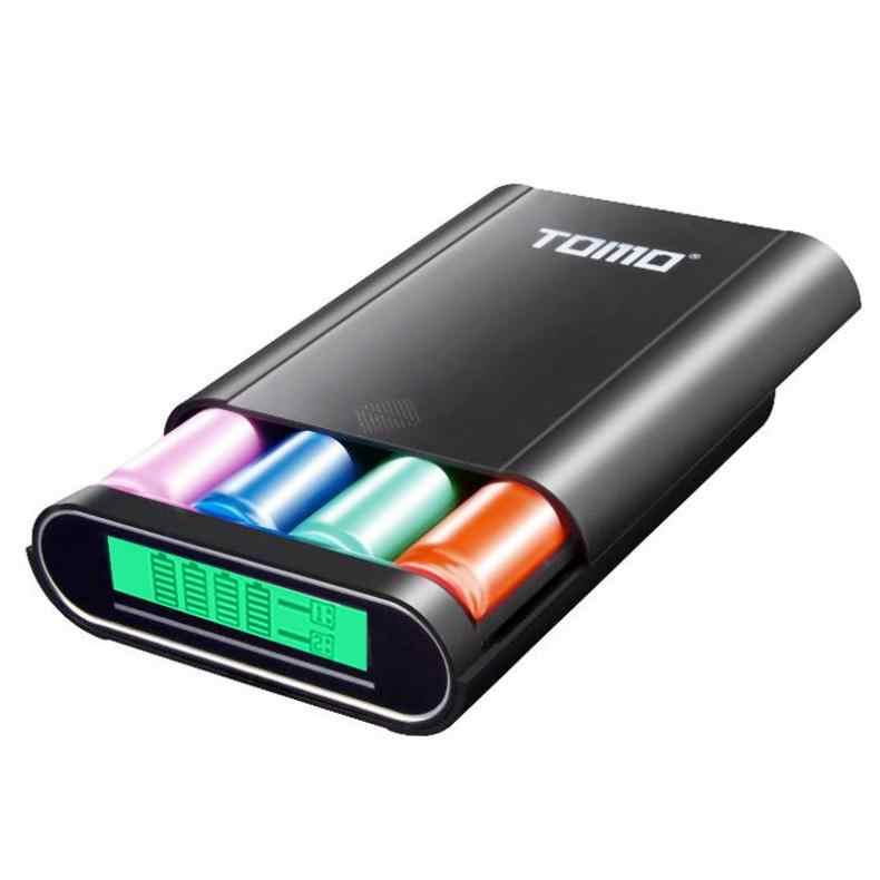 S4 USB ليثيوم أيون شاحن بطارية ذكي LCD الذكية DIY المحمول علبة صندوق شحن دعم 4x18650 بطاريات و المخرجات المزدوجة
