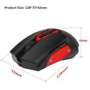 Image 4 - HXSJ drahtlose maus 2,4G gaming maus 4800 einstellbare DPI wiederaufladbare USB maus player bunte hintergrundbeleuchtung für PC notebook spiele