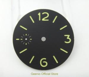 Image 1 - 36,3mm GEERVO moda steril ışıklı Sayı siyah dial fit 6497 hareketi erkek saati arama 06