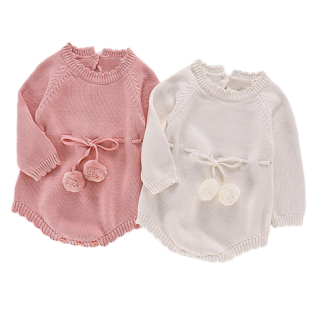e382a31e2 Baby Girls Knitting Romper Newborn Baby Girl Clothes Fashion Knitted ...