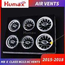 For w205 w213 X253 C class C200 C180 E E43 E450 GLC w447 v turbine air vent silver / red condition outlet