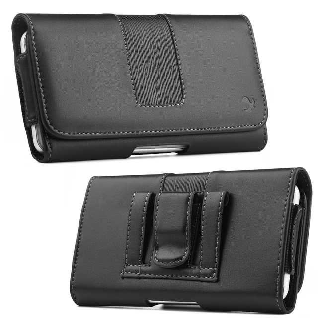 Universal pouch Cover Belt Clip Holster Leather Phone bag Case 6.3inch For iphone
